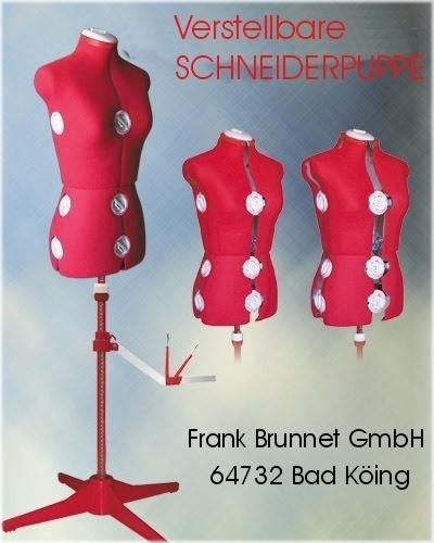 verstellbare-Schneiderpuppe-/-Schneiderbueste-151-rot
