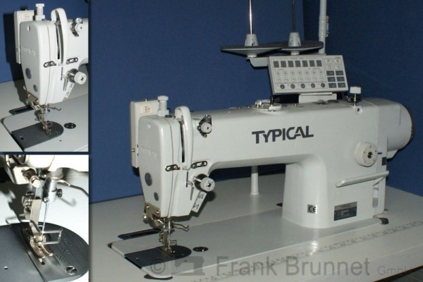 Industrienaehmaschine-Typical-6710-Fadenabschneider-leiser-Directdrive-Motor-230V