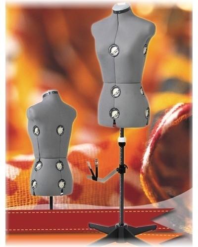 verstellbare-Schneiderpuppe-Schneiderbueste-grau-150