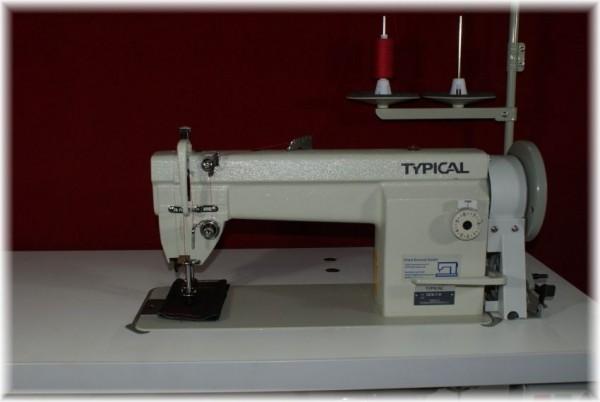 Industrienähmaschine Typical 6-7 D SP Dreifachtransport Ledermaschine Polstermaschine 220 V Stop Mot