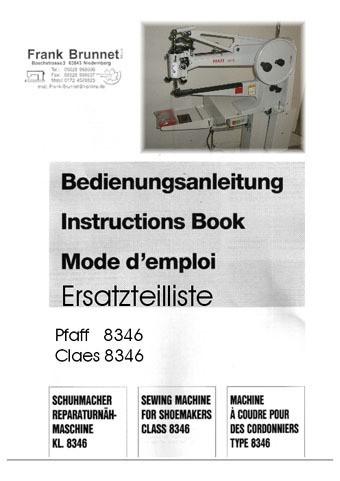 Bedienungsanleitung-Pfaff-Industrial-8346-Schuhmacher-Kein-Orig-Teil