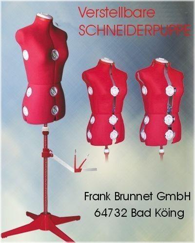 verstellbare-Schneiderpuppe-/-Schneiderbueste-150-rot