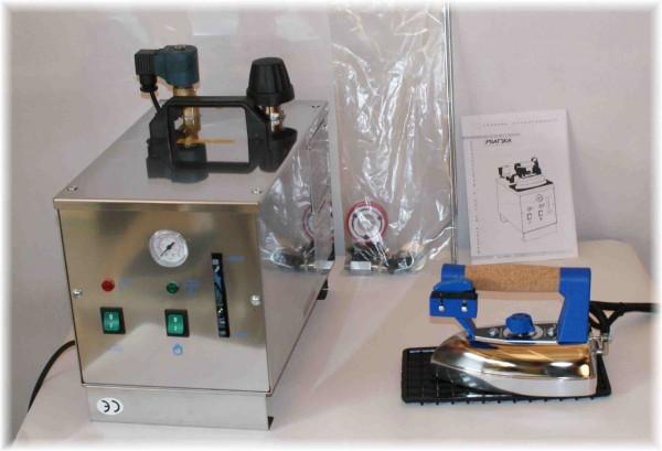 Dampfbuegelstation mit Buegeleisen45 Liter-Kessel