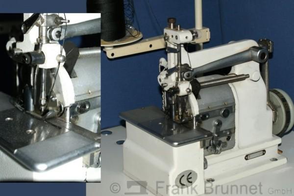 Saddle-Stich-Haeckelmaschine-Zierstichmaschine-220-Volt-Motor-Naehtisch-montiert-eingenaeht